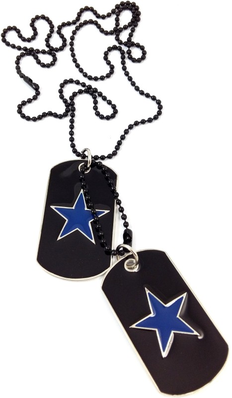 Ammvi Creations The Star Vitruvian Embossed Black Dog Tag