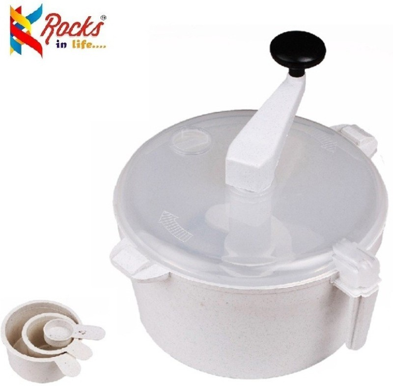 Rocks atta maker Plastic Detachable Dough Maker(White)