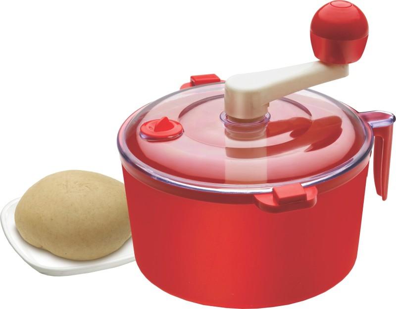 Ritu Cutter + Dough Maker Plastic, Stainless Steel Detachable Dough Maker(Red)