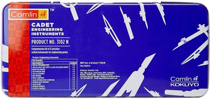 Camlin 3102N Drafting Compass Set(Number of 1)