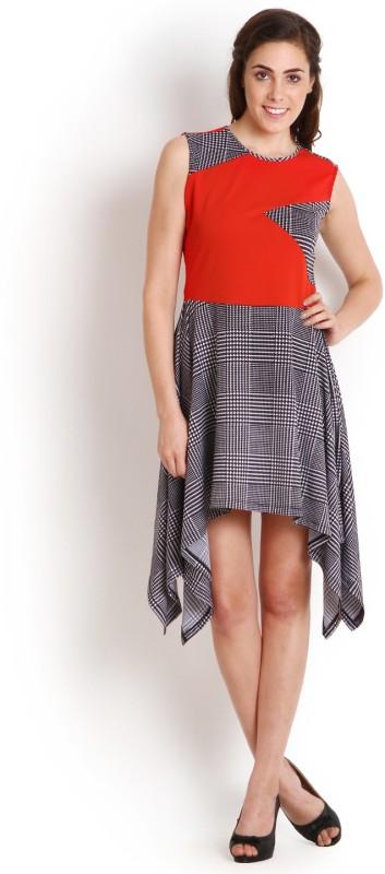Soie Women's High Low Red Dress