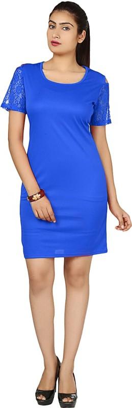 Klick2Style Women's Sheath Blue Dress