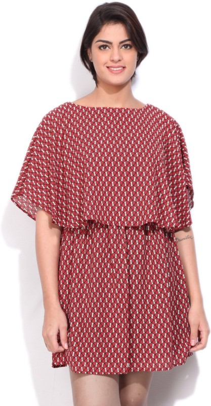 Allen Solly Womens Fit and Flare Red Dress