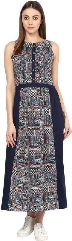 Jaipur Kurti Women's Maxi Multicolor Dress