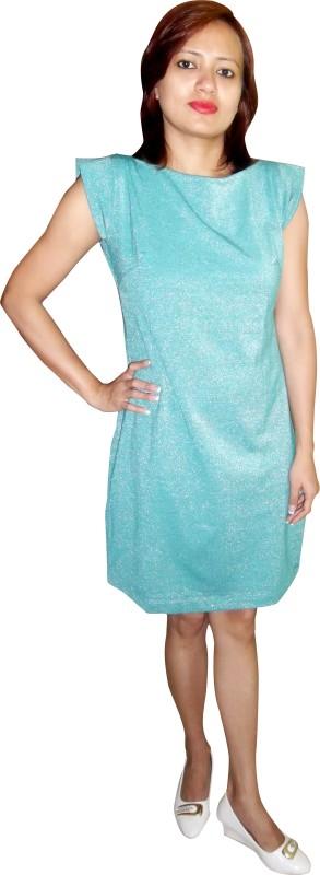 mc Women Shift Light Green Dress