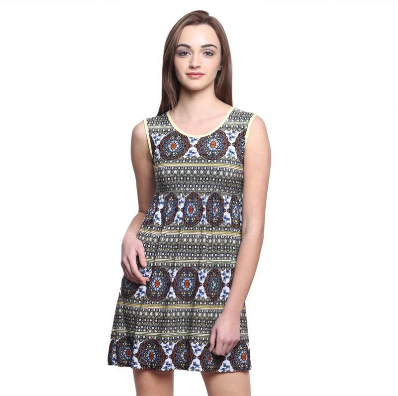 Espresso Women's Fit and Flare Multicolor Dress