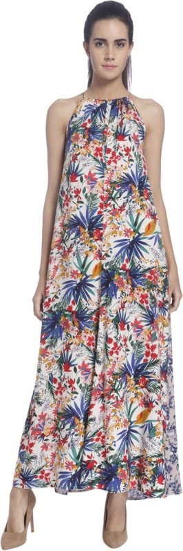 Vero Moda Womens Maxi Multicolor Dress