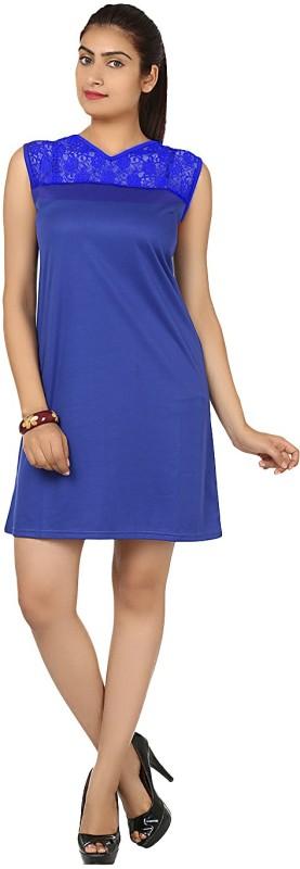 Klick2Style Women's A-line Blue Dress