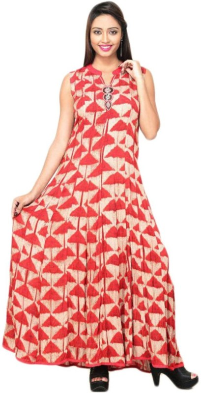 india colors Women's Maxi Multicolor Dress