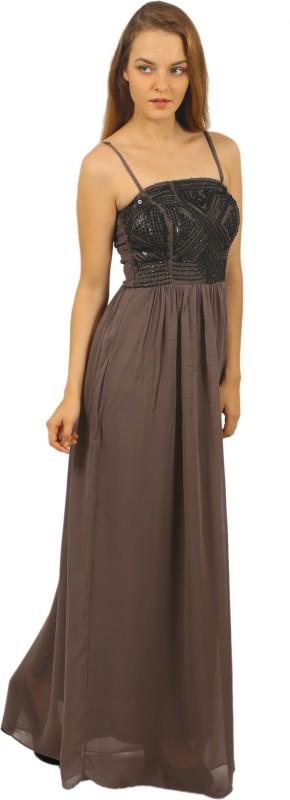 MansiCollections Women Maxi Grey Dress