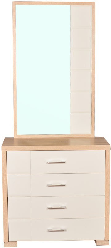 HomeTown Geo Engineered Wood Dressing Table(Finish Color - Clear Maple)
