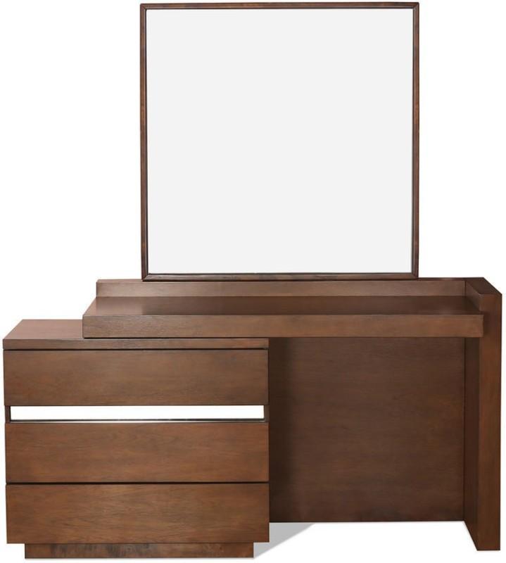 @home by Nilkamal David Engineered Wood Dressing Table(Finish Color - Walnut)