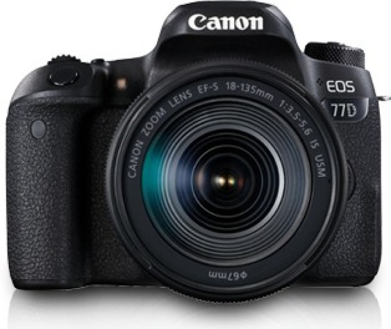 Canon EOS 77D DSLR Camera Body with Single Lens: EF-S18-135...