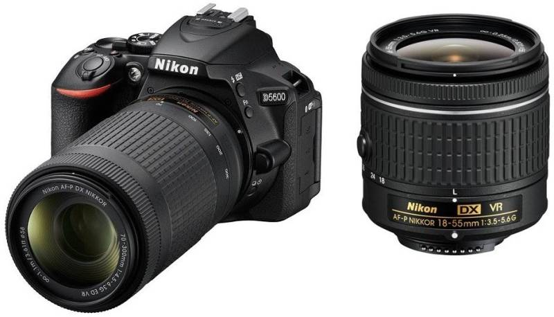 Nikon D5600 DSLR Camera Body with Dual Lens: AF-P DX...