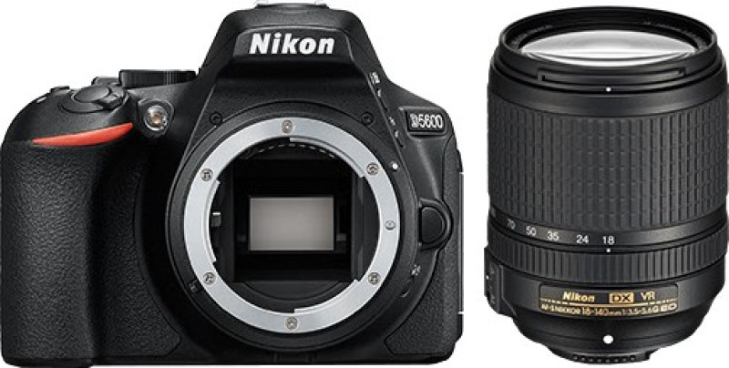 Nikon D5600 DSLR Camera Body with Single Lens: AF-S DX Nikkor 18 - 140 MM F/3.5-5.6G ED VR (16 GB SD Card + Camera Bag)(Black)