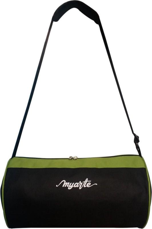 Myarte (Expandable) GYM BAG Gym Bag(Green, Black)