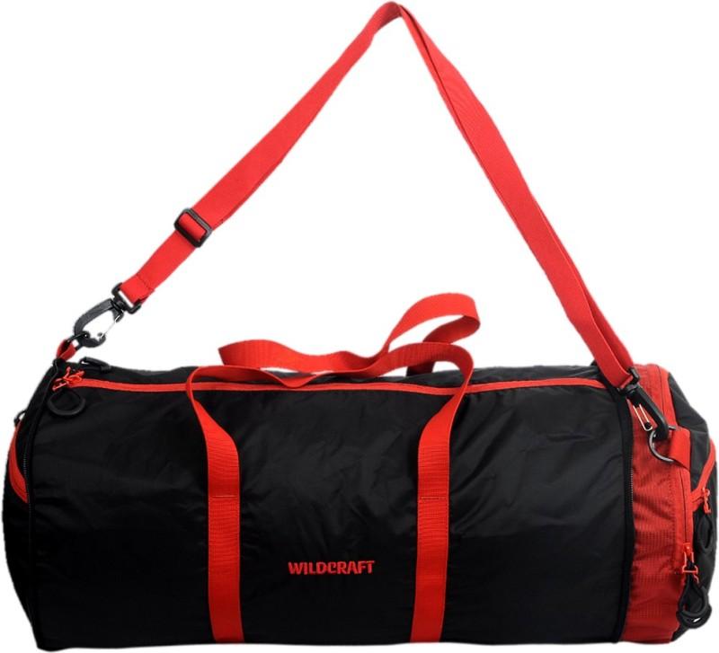 Wildcraft Pravas Black 10 inch/25 cm (Expandable) Travel Duffel Bag(Black)