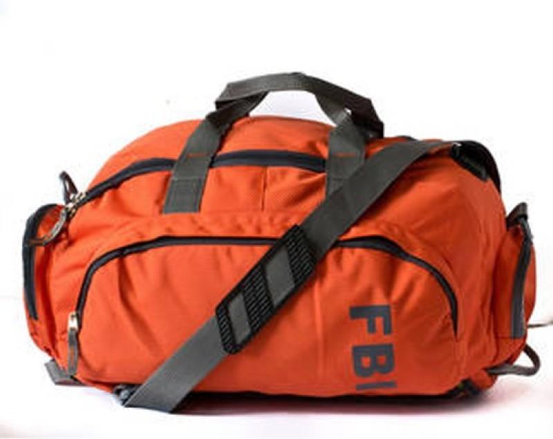FBI 16 inch/40 cm Duffle Cum Gym Bag Gym Bag(Orange)
