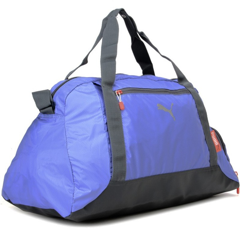 Puma 19 inch/49 cm Fit At Sports Duffle Travel Duffel Bag(Grey, Blue)