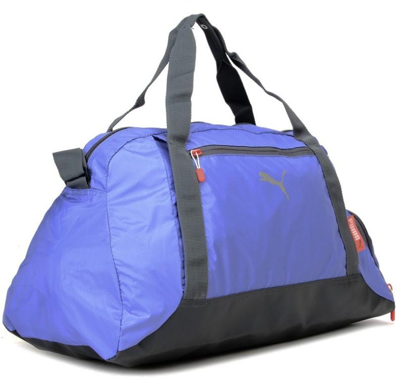 Puma 19 inch/49 cm Fit At Sports Duffle Travel Duffel Bag(Grey, Blue)