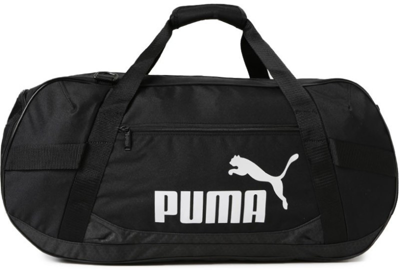 Puma Active TR Duffle Bag M Travel Duffel Bag(Black)