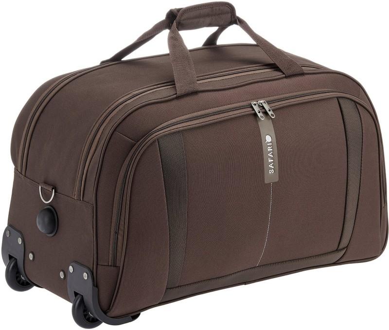 Safari 24 inch/61 cm revv Duffel Strolley Bag(Brown)