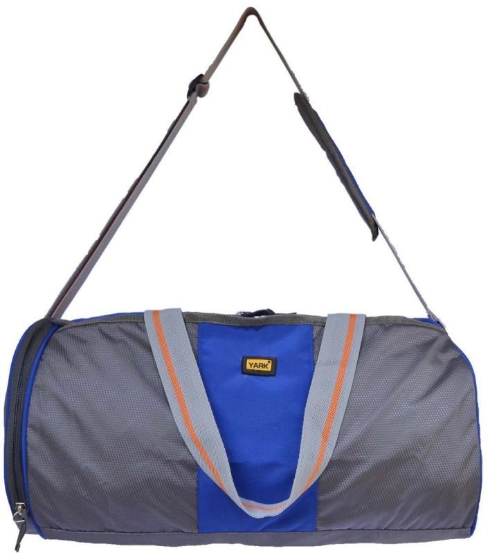Yark 17 inch/43 cm Gym Bag with Shoe Pouch pocket Gym Bag(Blue)