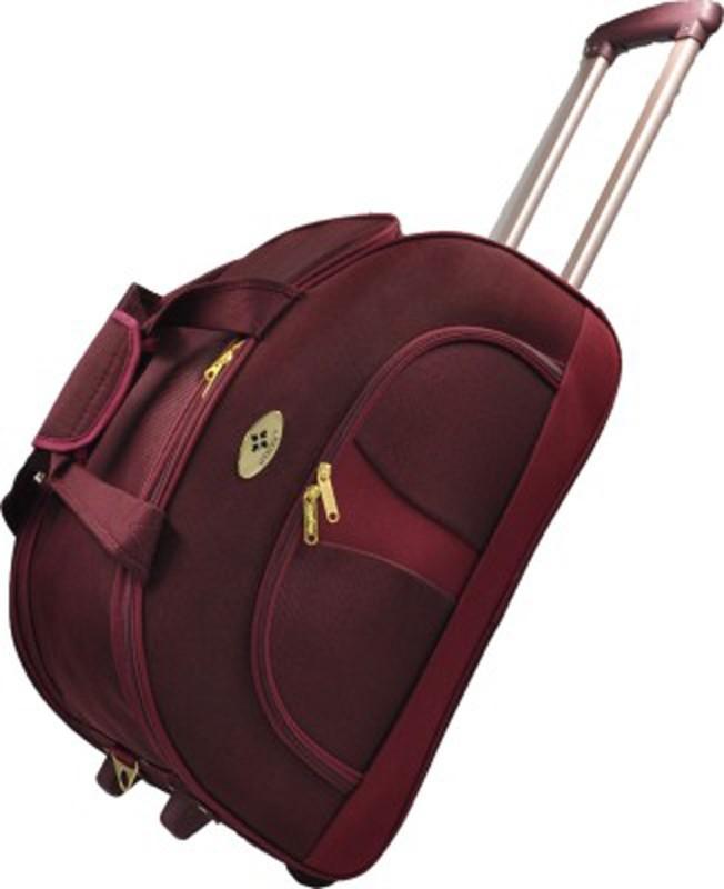 Abstar STROLLEY DUFFLE 20 inch/50 cm Duffel Strolley Bag(Maroon)