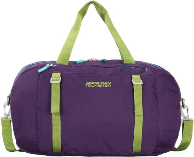 American Tourister Jive (Expandable) Travel Duffel Bag(Purple, Green)