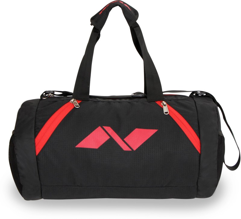 Nivia Beast Gym Bag 17 inch/43 cm Gym Bag(Black, Red)