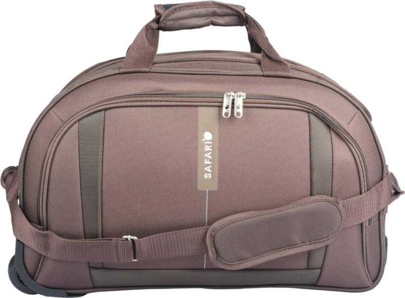 Safari Revv Rdfl 22 inch/55 cm Duffel Strolley Bag(Brown)