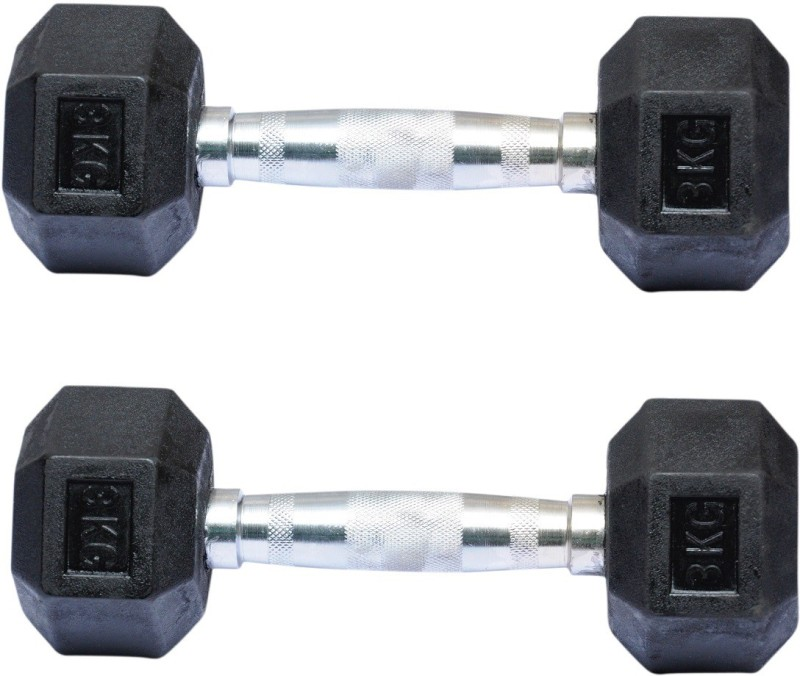 Biceps Triceps Hexagonal Fixed Weight Dumbbell(3 kg)