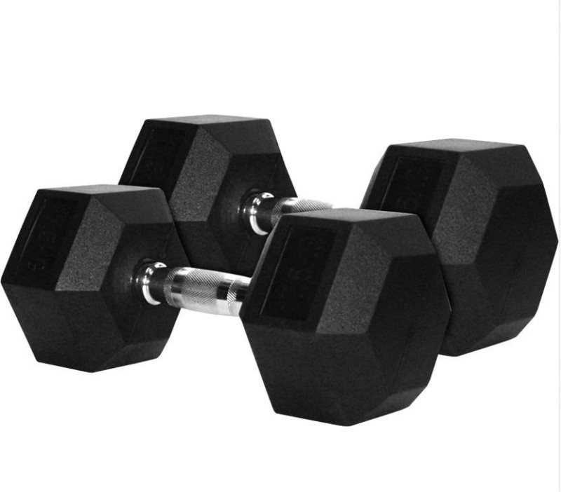 Sports Solutions Ultimate Power 4 kg Pair Hex Fixed Weight Dumbbell(8 kg)
