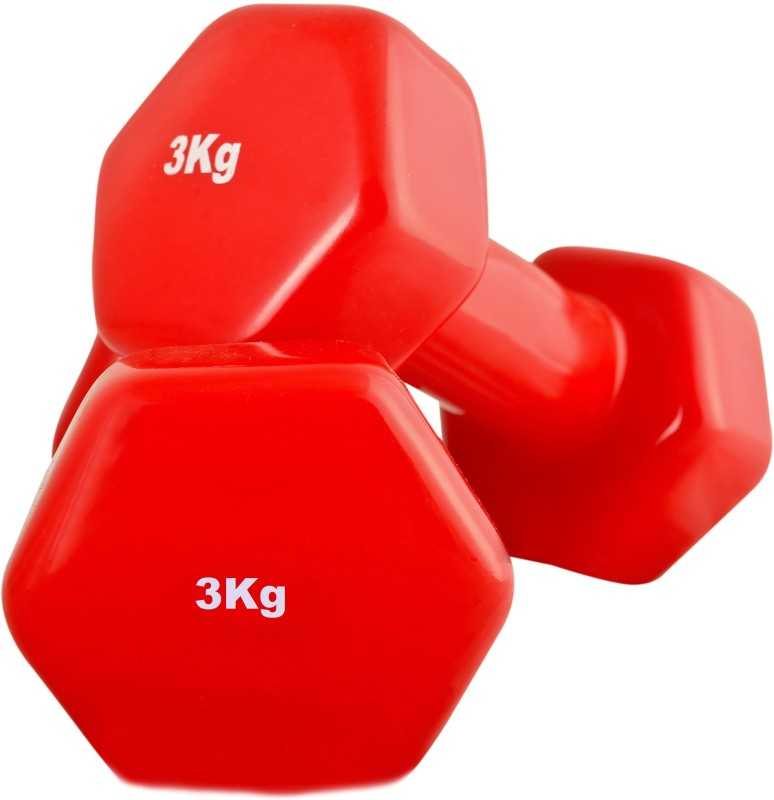 SportSoul VINYL Fixed Weight Dumbbell(6 Kg)