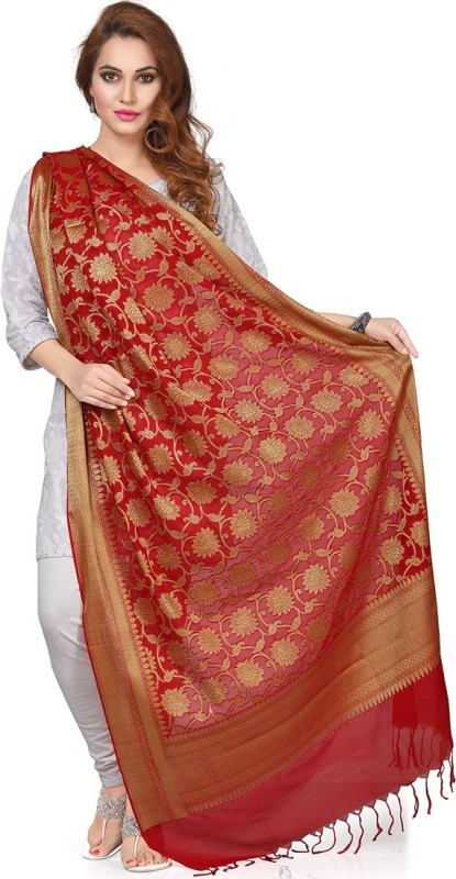 Rani Saahiba Art Silk Self Design, Woven Women's Dupatta