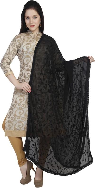 Dupatta Bazaar Faux Chiffon Embroidered Women's Dupatta