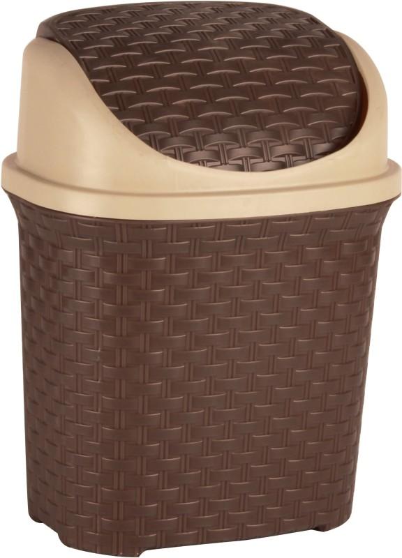 Polyset Brio Swing Bin Plastic Dustbin(Brown)