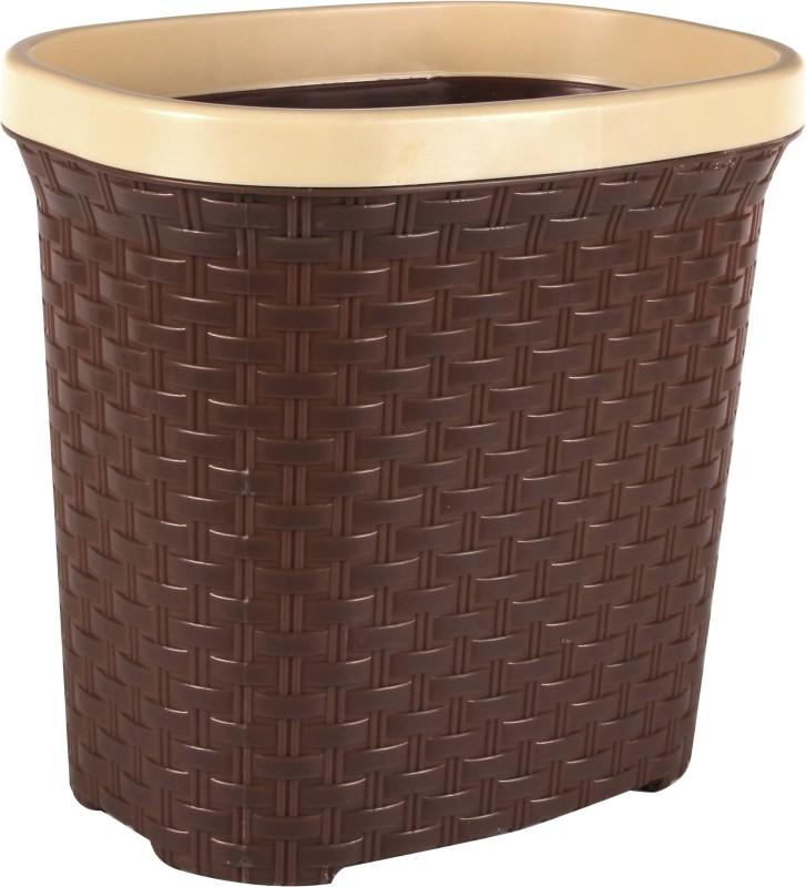 Polyset Brio Waste Paper Plastic Dustbin(Brown)
