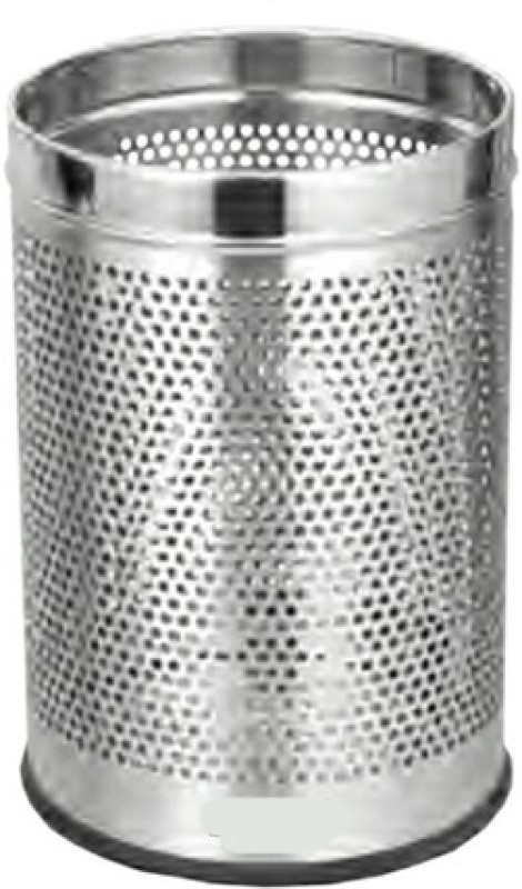 Life Line Services Superclean Stainless Steel Dustbin(Silver)