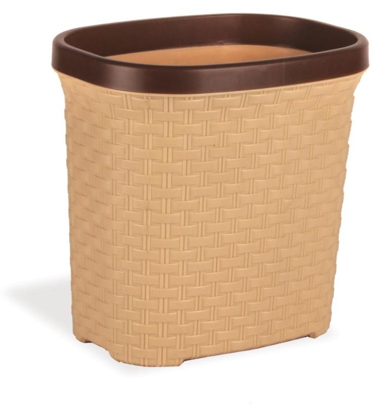 Polyset Brio Waste Paper Plastic Dustbin(Beige)