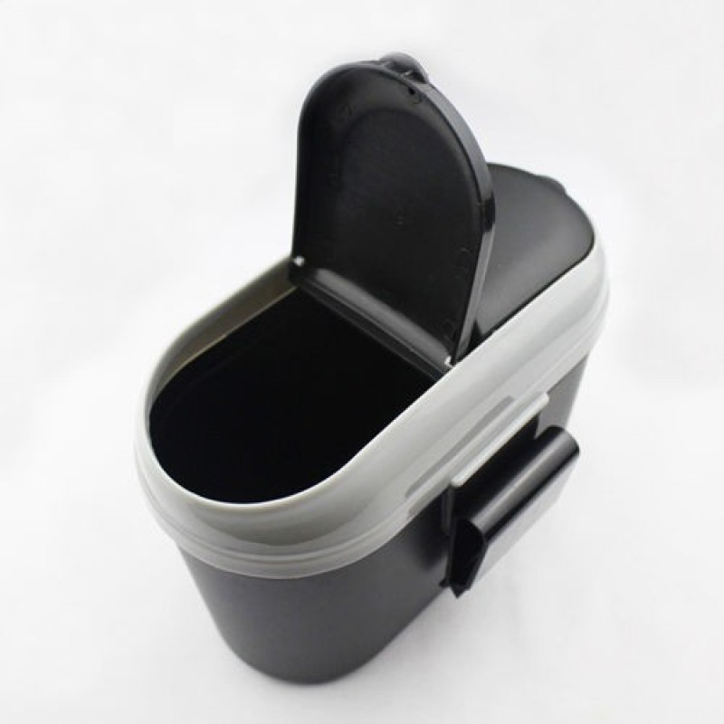 Divinext Car Mini Trash Rubbish Can Garbage Dust Dustbin Box Case Holder Bin Hook Plastic Dustbin(Multicolor)