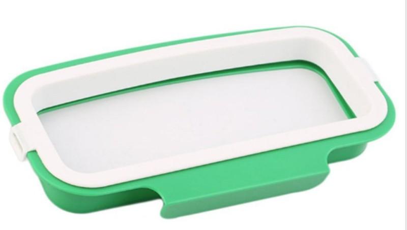 Royaldealshop Plastic Dustbin(Green, White)