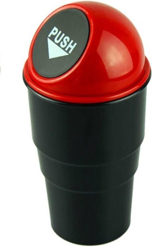Unique Cartz Plastic Dustbin(Red)