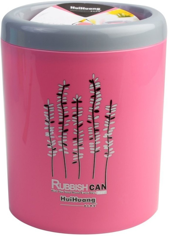 Hui Huang Plastic Dustbin(Pink)