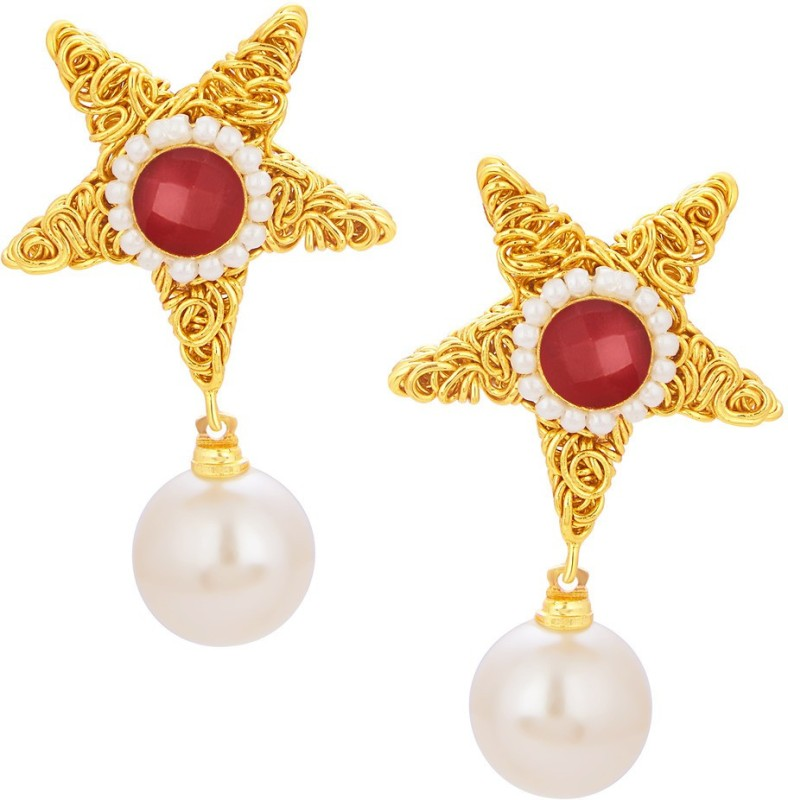 Sukkhi Splendid Star Gold Plated Alloy Drop Earring