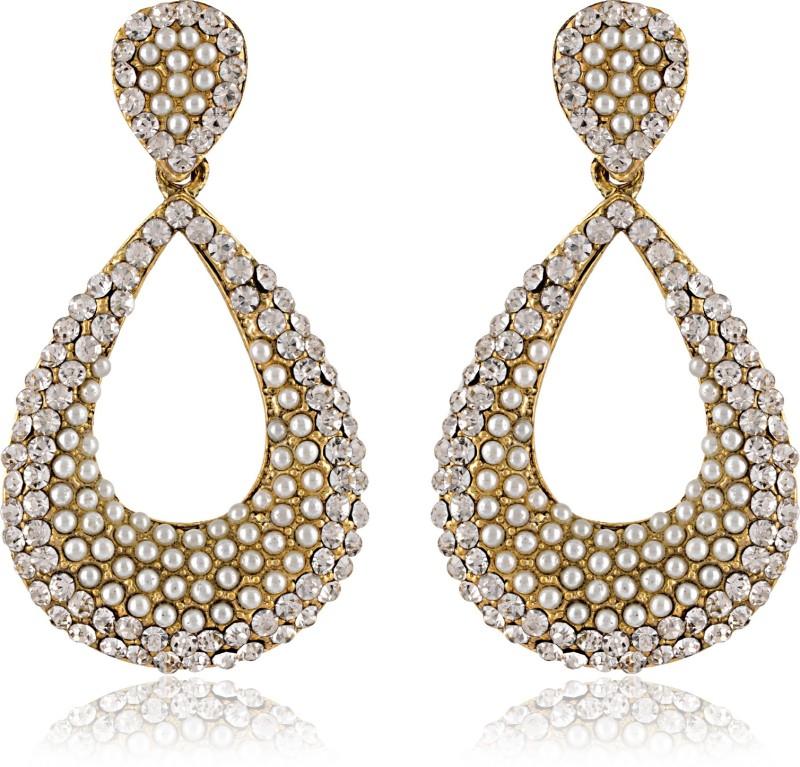 Styylo Fashion Diva style Zircon Alloy Chandbali Earring