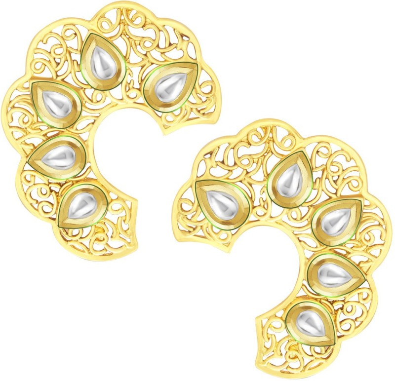 Sukkhi Artistically Gold Plated Kundan Alloy Stud Earring