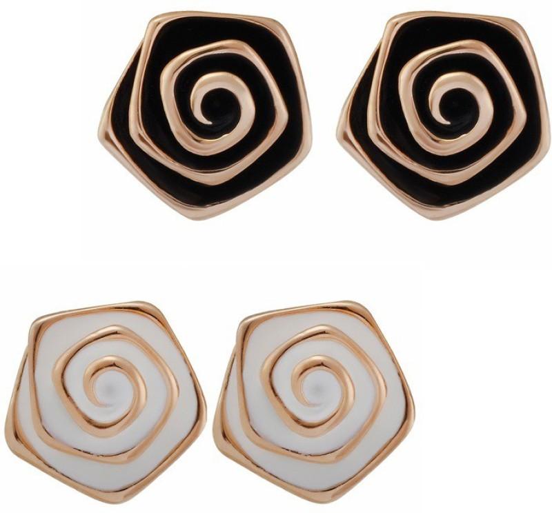 Aaishwarya Multicolour Rose Alloy Earring Set