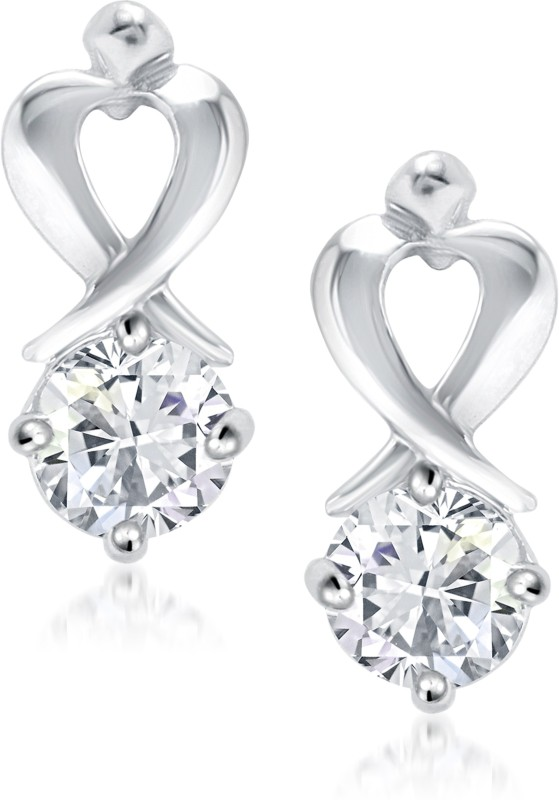 VK Jewels Demure Shy and Reserve Cubic Zirconia Alloy Stud Earring