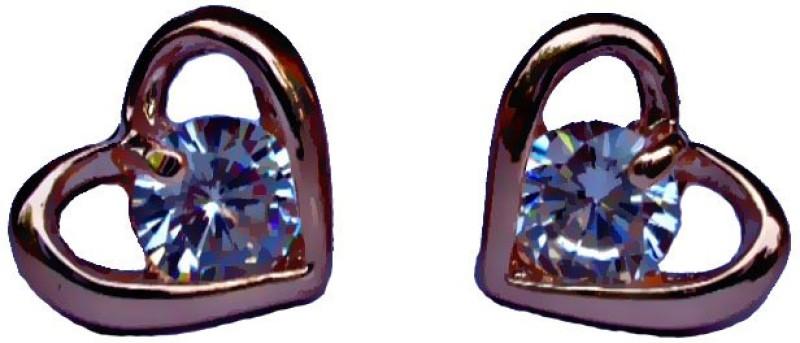 Kundaan Love Zircon Zircon Alloy Stud Earring